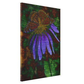 Textured Butterfly Exclusion Design Wrapped Canvas