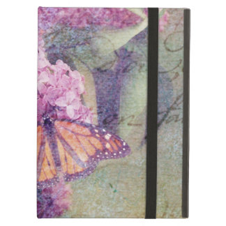 Textured Butterfly with Lilacs iPad Air Cases