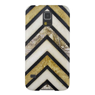 Textured chevron pattern, yellow and black. case for galaxy s5