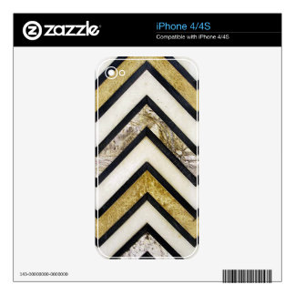 Textured chevron pattern, yellow and black. iPhone 4S skin
