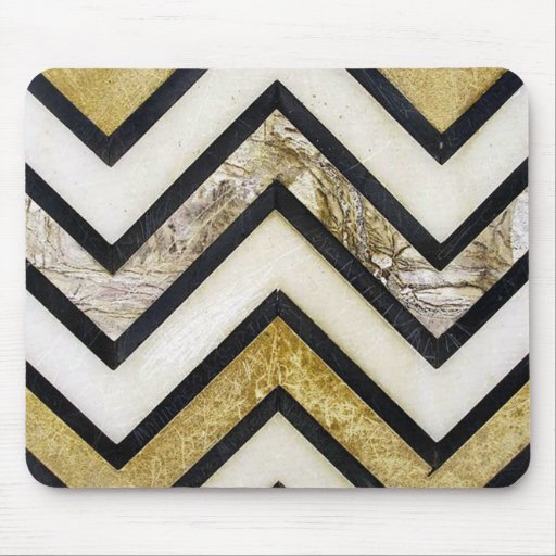 Textured chevron pattern, yellow and black. mouse pad