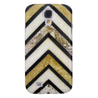 Textured chevron pattern, yellow and black. samsung s4 case