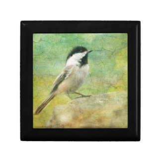 Textured Chickadee Trinket Boxes