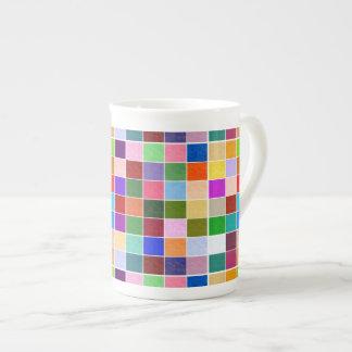 Textured Color Squares Porcelain Mug