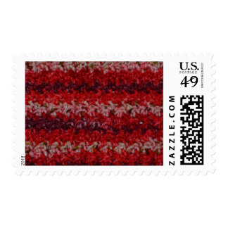 Textured Crochet Design Postage Stamps