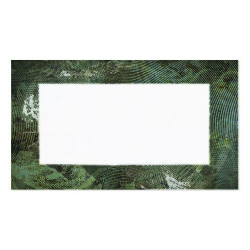Textured Cyanotype Border Business Cards