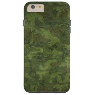 Textured Dense Green Camouflage Design Tough iPhone 6 Plus Case