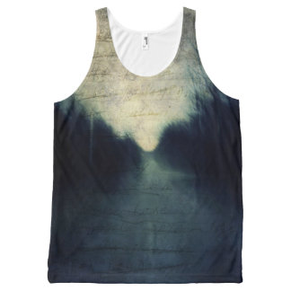 Textured Evening Abstract All-Over Print Tank Top