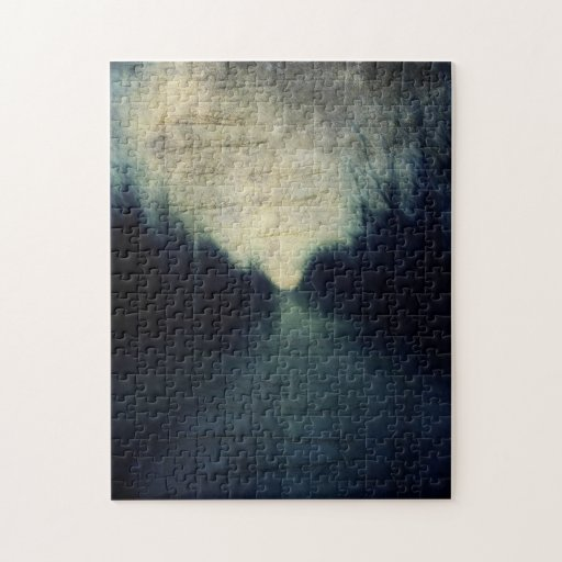Textured Evening Abstract Jigsaw Puzzle