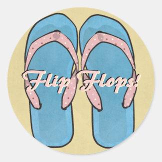 Textured Flipflops Sticker