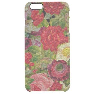 Textured Flower Garden Clear iPhone 6 Plus Case