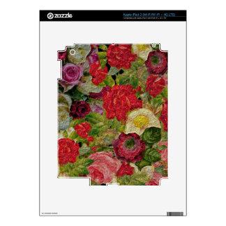 Textured Flower Garden Decal For iPad 3
