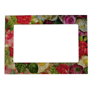 Textured Flower Garden Magnetic Picture Frame