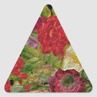 Textured Flower Garden Triangle Sticker