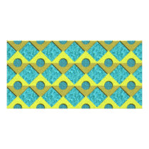 Textured geometric pattern card