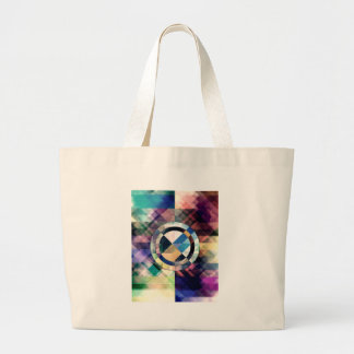 Textured Geometric Shapes Large Tote Bag