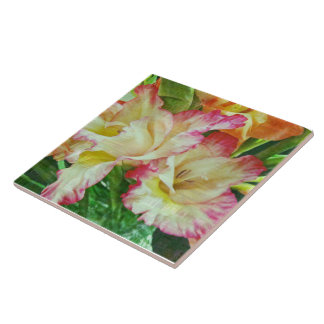 Textured Gladiola Ceramic Tile
