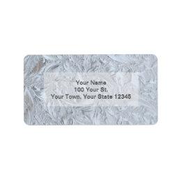 Textured Glass Custom Label