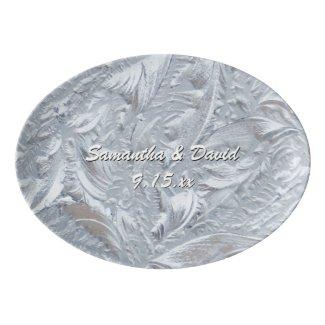 Textured Glass Custom Porcelain Serving Platter