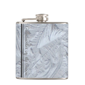 Textured Glass GRANDMOTHER OF THE GROOM Hip Flask