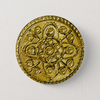 Textured Gold Filigree Button