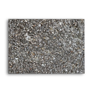 Textured Gray Stone Wall Pattern Envelope