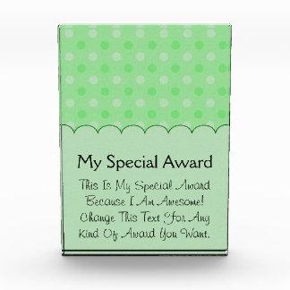 Textured Green Dots Pattern Awards