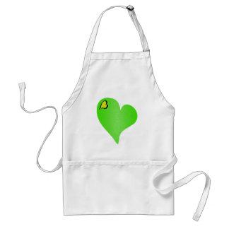 Textured Green Heart Aprons