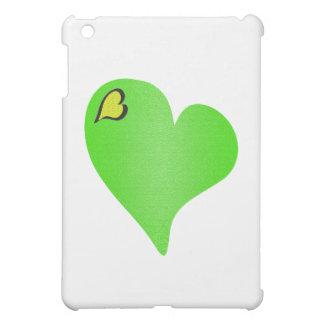 Textured Green Heart iPad Mini Case