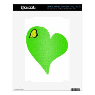 Textured Green Heart NOOK Skins