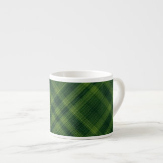 Textured Green Plaid Espresso Mug