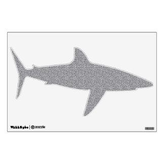 Textured Grey Shark Shape Wall Decal