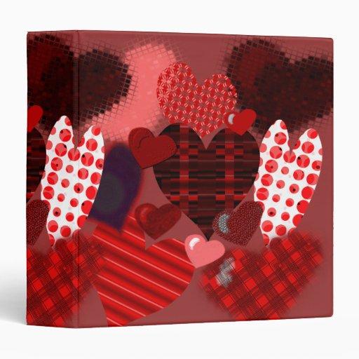 Textured Heart Collage Binder