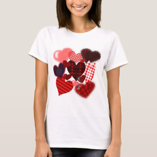 Textured Heart Collage T-Shirt