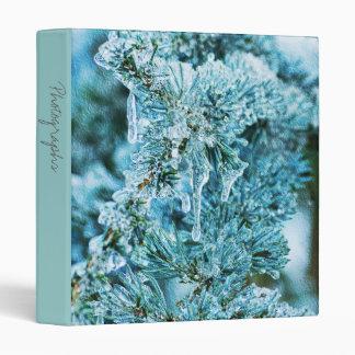 "Textured Icy Pine 1""  Photo Album 3 Ring Binder"
