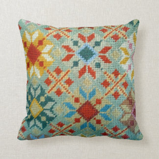 Textured Knit Colorful Pillow