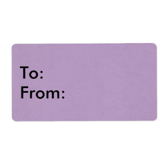 Textured Light Purple Color Label