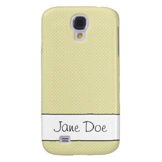Textured Light Yellow Galaxy S4 Case
