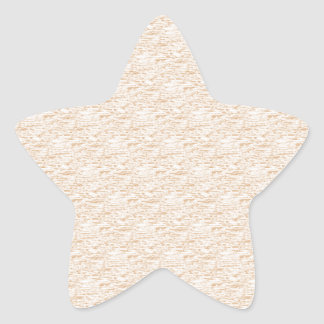 textured lightly off sepia star sticker