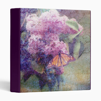 "Textured Lilacs 1"" Photo Album Vinyl Binders"