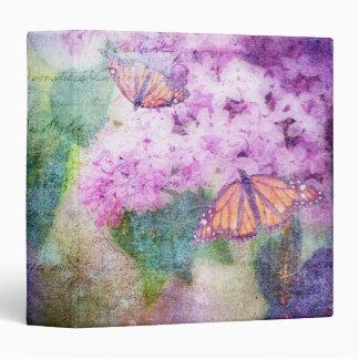 """Textured Lilacs & Butterflies 1.5"""" Photo Album Vinyl Binders"""