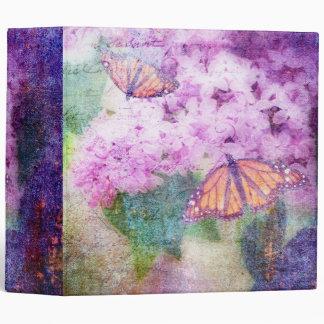 """Textured Lilacs & Butterflies 2"""" Photo Album Binders"""