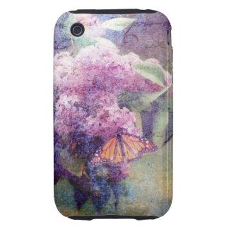 Textured Lilacs Tough iPhone 3 Case