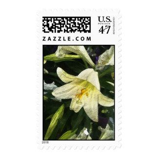 Textured Lillies Postage Stamp