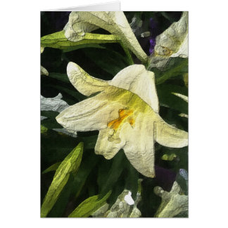 Textured Lilly Card