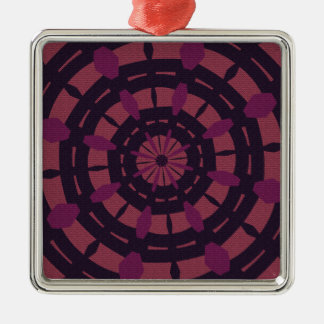 Textured look kaleidoscope design purple and pink ornament