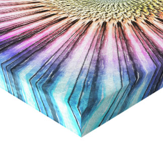 Textured Mandala Tie Dye Canvas Print