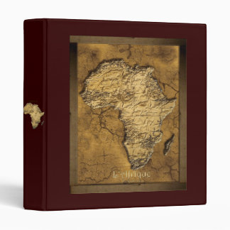Textured MAP OF AFRICA Binder