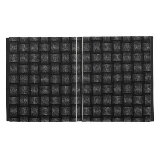 Textured Metal Basket Weave Design iPad Folio Covers