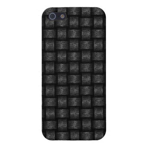 Textured Metal Basket Weave Design iPhone 5/5S Cases